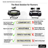 AiRunTech Upgraded No Bounce Running Hydration Belt + 2 BPA Free Water Bottles
