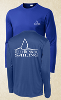 Long Sleeve Activewear - Dark Blue White Logo