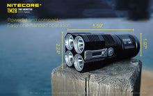 Load image into Gallery viewer, Nitecore TM28 - Maximum output 6000 lumens. Uses 4 x IMR 18650 or Li-ion 18650 batteries.