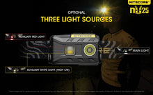 Load image into Gallery viewer, Nitecore NU25 - Maximum output 360 lumens. Powered by a built-in Li-ion battery.