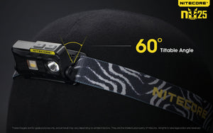Nitecore NU25 - Maximum output 360 lumens. Powered by a built-in Li-ion battery.