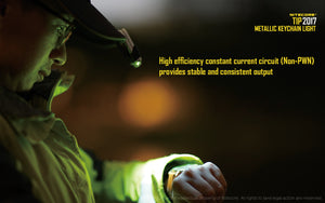 Nitecore TIP 2017 - Maximum output 360 lumens. Powered by a built-in, Li-ion battery.