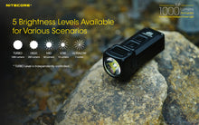 Load image into Gallery viewer, Nitecore TUP - Maximum output 1000 lumens. Powered by a built-in Li-ion battery.