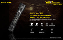 Load image into Gallery viewer, Nitecore MH25GTS 1800 lumens. USB Rechargeable