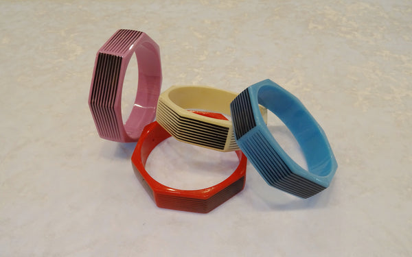 Octagon Stripe Bangle