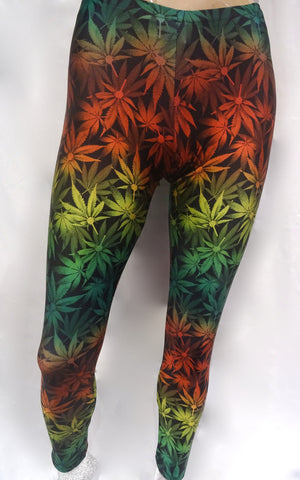 Rasta Marijuana Leggings