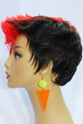 Neon Orange Triangle with Neon Green Ball