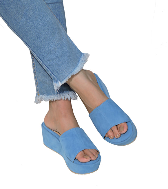 Classic Cushioned Flatforms - POWDER BLUE