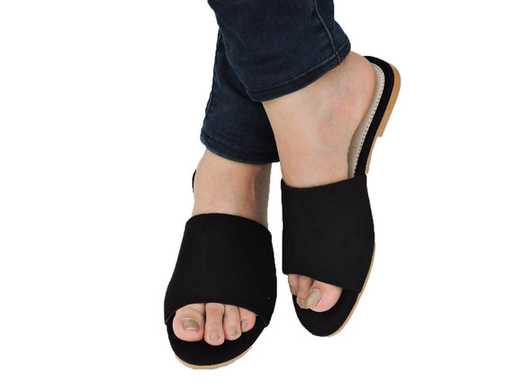 Leisure Studded Slide Black