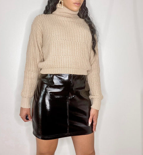 Jade Leather Skirt