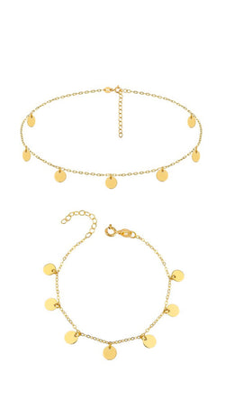 Supernova Mini Set - Set Choker & Armband Gold