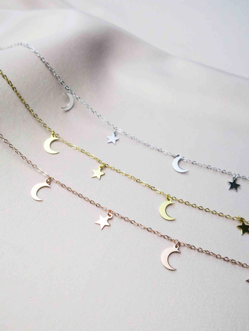 Choker Moon & Stars- Gold