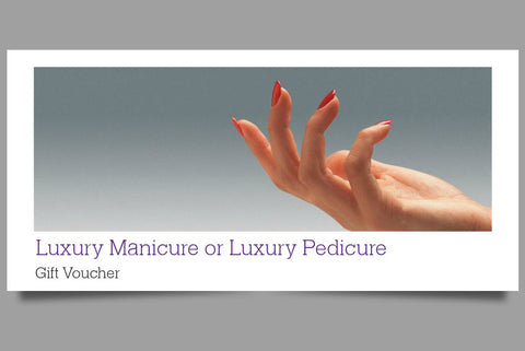 Luxury Manicure or Luxury Pedicure Gift Voucher