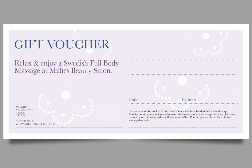 Swedish Full Body Massage Gift Voucher Leeds-5825