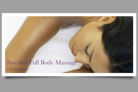 Swedish Full Body Massage Gift Voucher