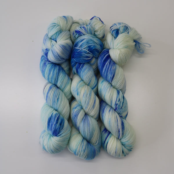 3-Pack of Apple Tree Knits Plush Fingering in Blue Curacao - KNITCRATE