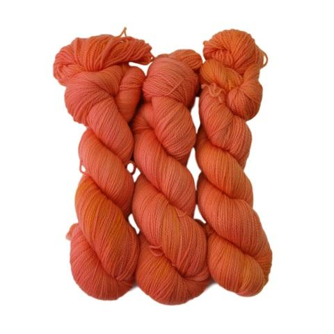 3-Pack of Apple Tree Knits Plush Fingering in Peach Taffy - KNITCRATE