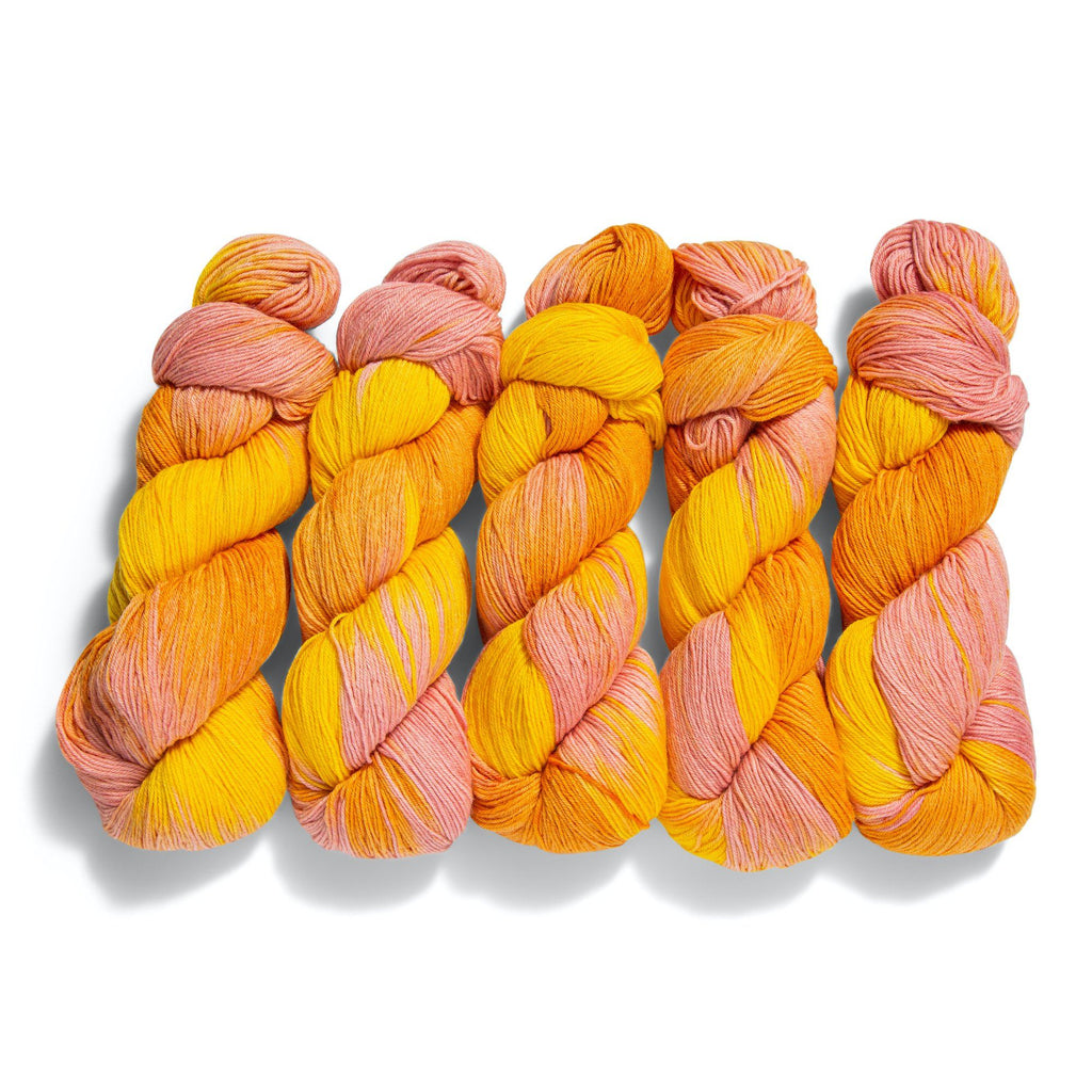 5-Pack of Knitologie Cozy Sock in Citrus Squeeze
