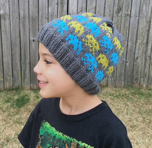 Alien Invasion Beanie Knit Pattern - KNITCRATE