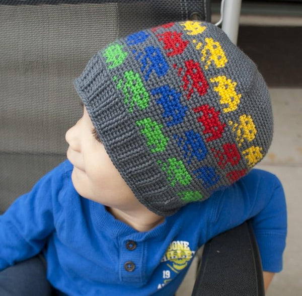 All Ages Alien Invasion Beanie Crochet Pattern - KNITCRATE