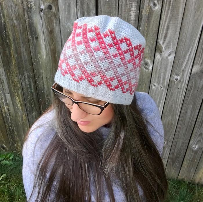 All Ages Checkers Beanie Crochet Pattern - KNITCRATE