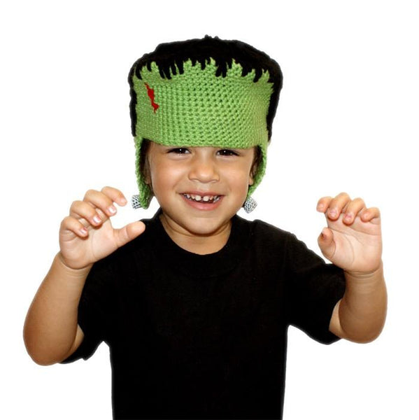 All Ages Franken Beanie Crochet Pattern - KNITCRATE