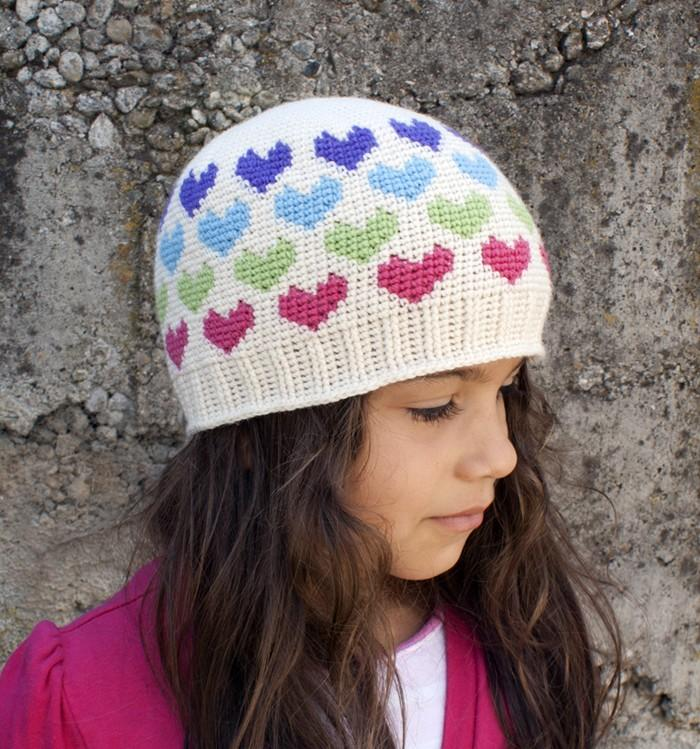 All Ages Hearts Abound Beanie Crochet Pattern - KNITCRATE