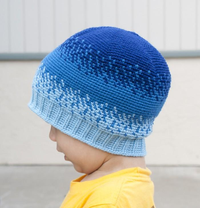 All Ages Pixelated Beanie Crochet Pattern - KNITCRATE