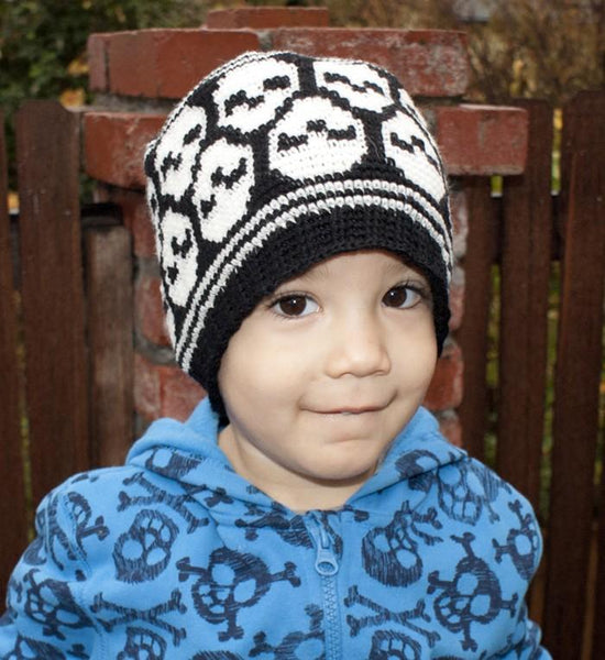 All Ages Super Skull Beanie Crochet Pattern - KNITCRATE