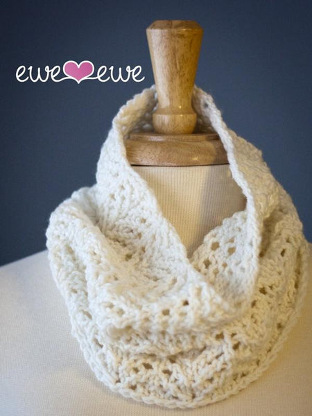 Angel Food Cake Cowl PDF Knitting Pattern - KNITCRATE