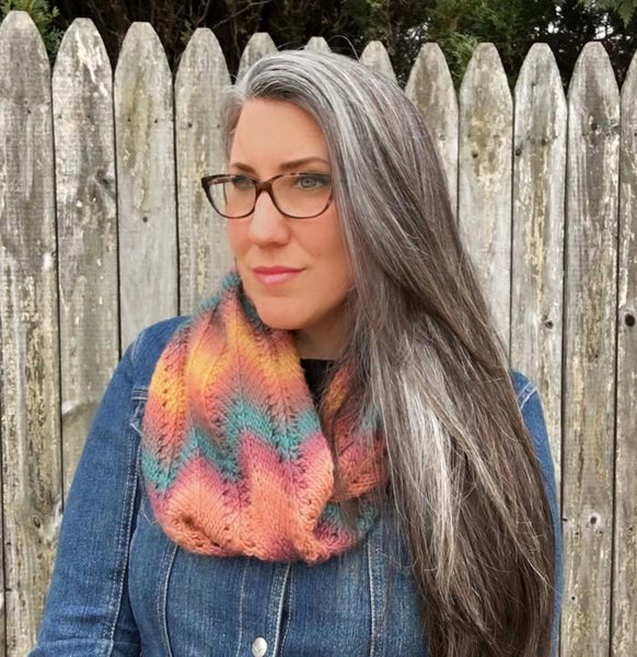 Autumn Infinity Scarf Knit Pattern - KNITCRATE
