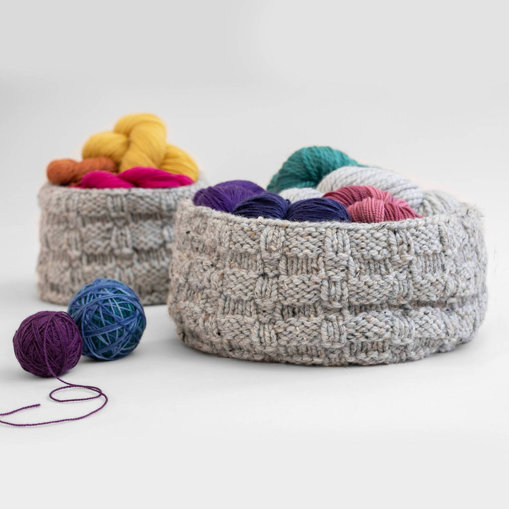 Basketweave Baskets - KNITCRATE