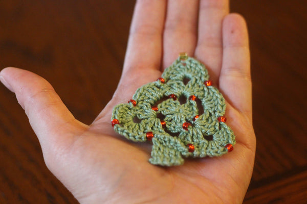 Beaded Christmas Tree Ornament - KNITCRATE