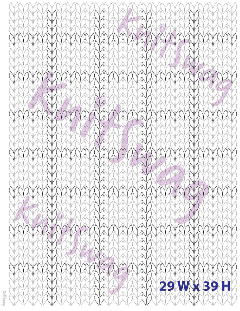 Best Knitting Chart for coloring Fair Isle designs (Portrait) BLANK | Better than a spreadsheet!
