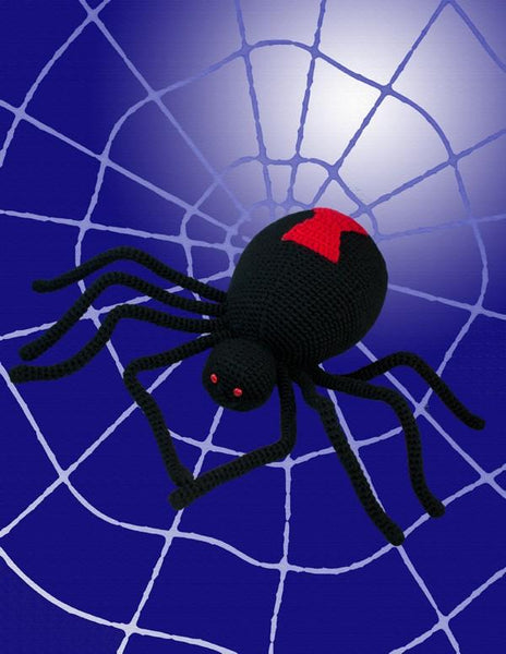 Black Widow Spider Crochet Pattern - KNITCRATE