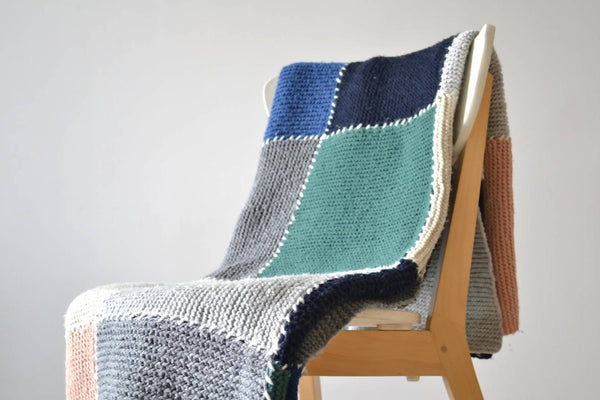 Block Blanket - KNITCRATE
