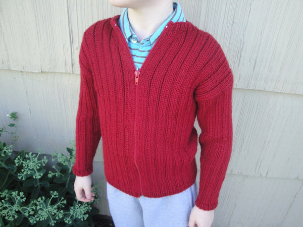 Boys Ribbed Cardigan - KNITCRATE