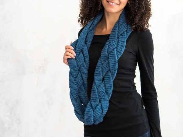 Braided Infinity Scarf Crochet Pattern - KNITCRATE