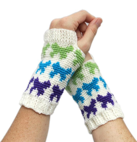 Butterfly Mitts Crochet Pattern - KNITCRATE
