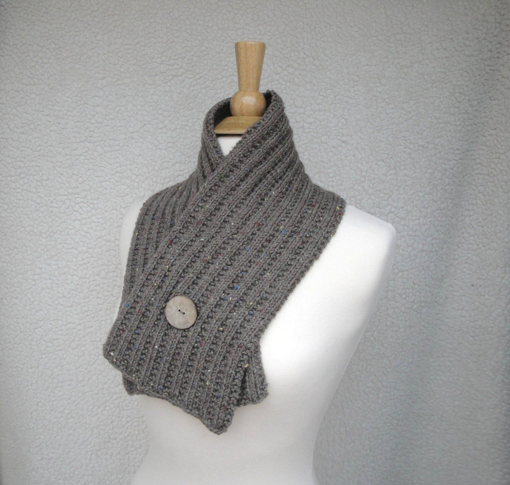Button Wrap Scarf - KNITCRATE