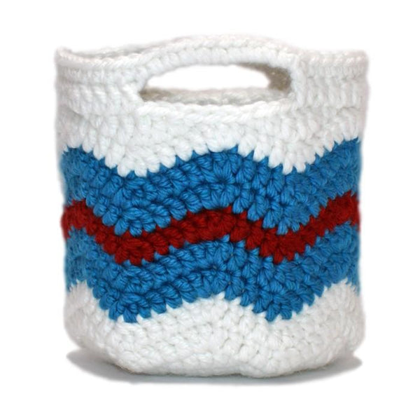 Chevron Storage Baskets Crochet Pattern - KNITCRATE