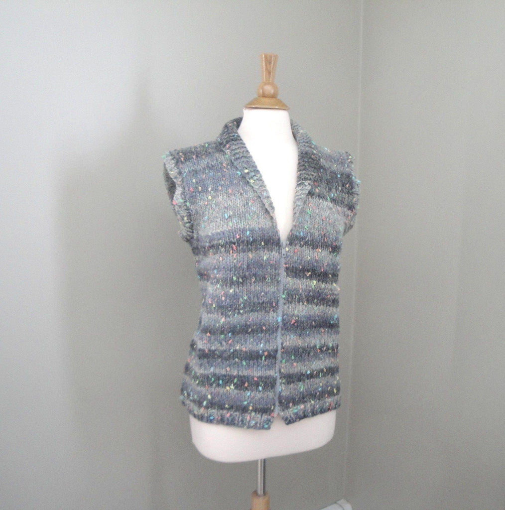 Chunky Shawl Collar Vest - KNITCRATE