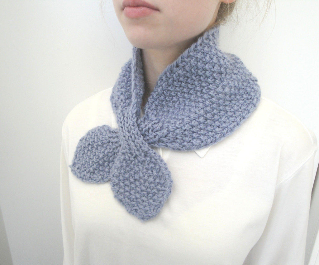 Cozy Ascot Scarf - KNITCRATE