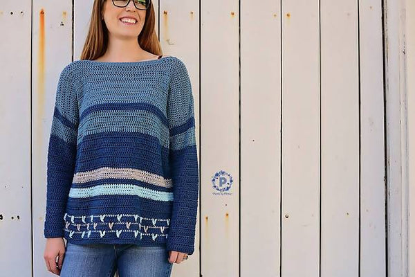 Crochet Birds of Feathers Sweater - KNITCRATE