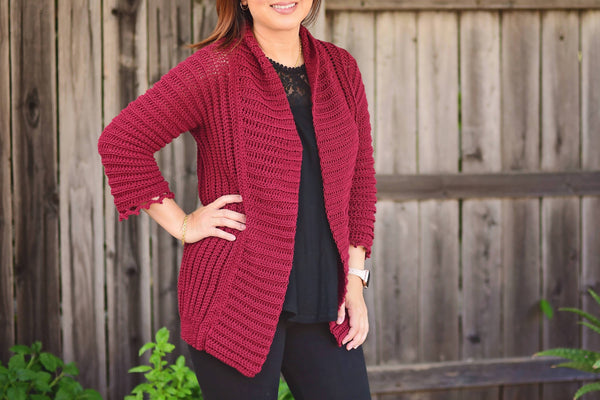 Crochet Fiona Cardigan - KNITCRATE
