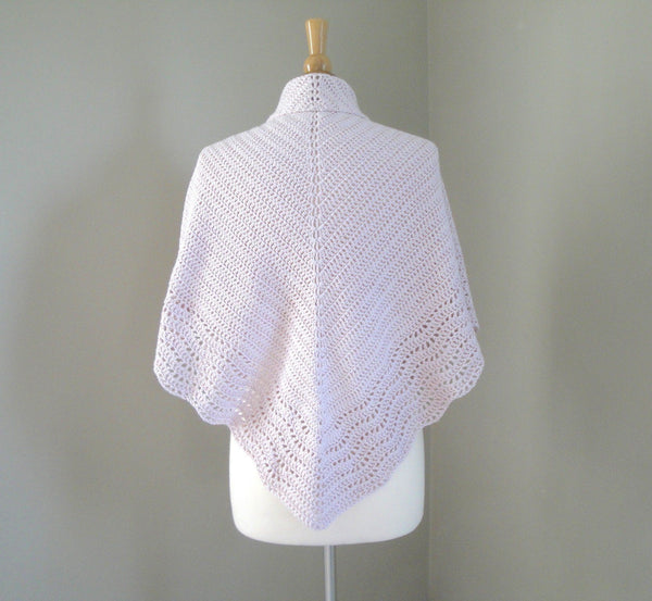 Crochet Shawl with Lace Edge - KNITCRATE