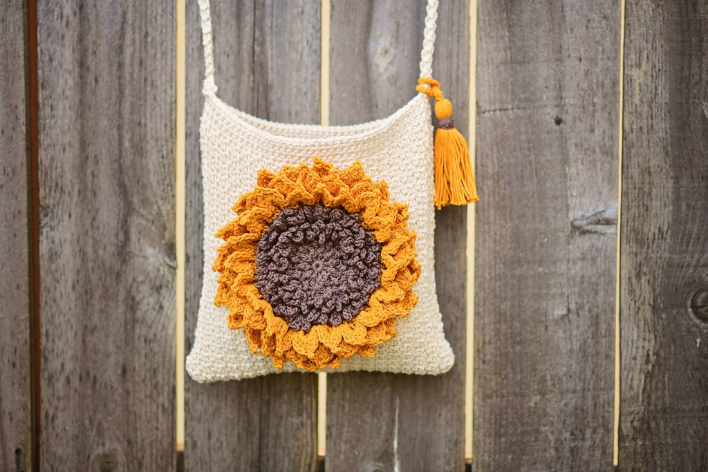 Crochet Sunflower Bag