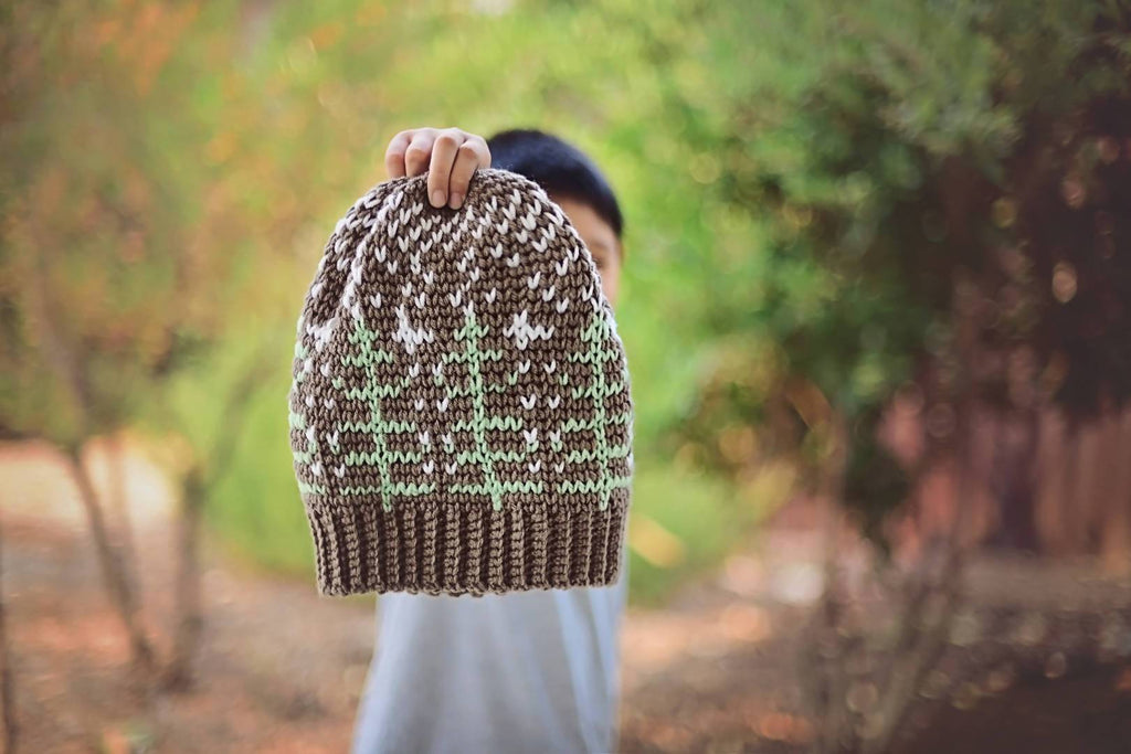 Crochet Winter Forest Beanie
