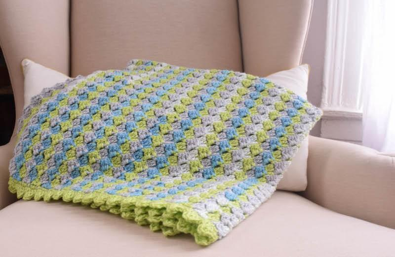 Crosshatch Stitch Baby Blanket - KNITCRATE