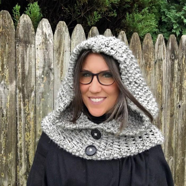 Dawn Hooded Cowl Knit Pattern - KNITCRATE